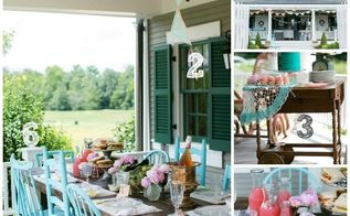 6 ways to get this look pretty porch party, outdoor furniture, outdoor living, painted furniture