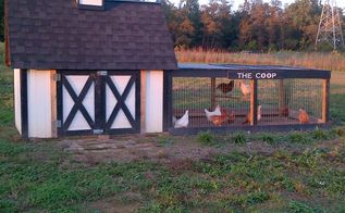 the chicken coop made from shipping crates, outdoor living, pets animals, repurposing upcycling, The Coop as it stood after taking it our to the farm Originally we painted the shipping crate wood white we later painted it brown to match the barn