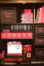 thirty one products organize your space, organizing, Pink and brown office