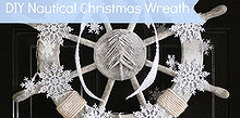 nautical christmas wreath, crafts, seasonal holiday decor, wreaths, Nautical Christmas Wreath