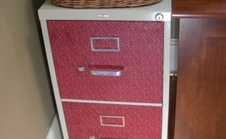 fabric covered filing cabinets, home decor, kitchen cabinets
