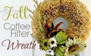 autumn coffee filter wreath, crafts, seasonal holiday decor, wreaths