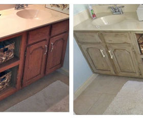 Bathroom Vanity Makeover With Annie Sloan Chalk Paint, Chalk Paint, Kitchen  Cabinets, Painted. Bathroom Vanity Before And After