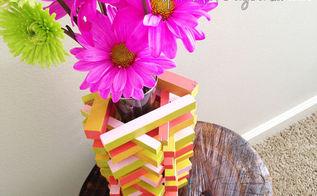diy painted wood vase, crafts, painting