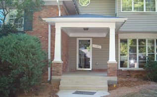 craftsman style portico, curb appeal, After