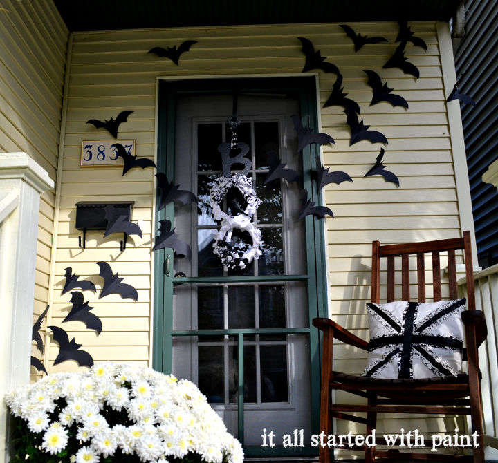bats on the door decor for halloween crafts doors halloween decorations seasonal