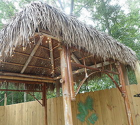 diy outdoor tiki hut using repurposed materials home improvement outdoor living another view - Tiki Hut