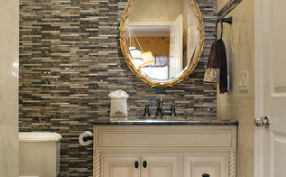 small powder room with marble tiles and mosaics, bathroom ideas, painting, tiling, Design by Klima Design Group LLC