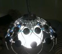 the 2nd to two lamps made for christmas gifts, crafts, lighting