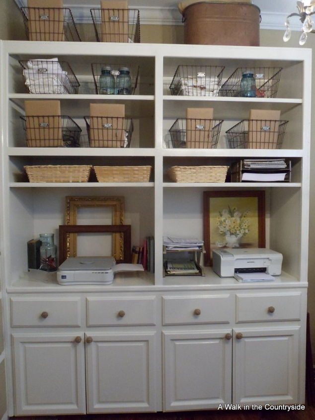 Repurposed cabinets for the office craft space hometalk for Kitchen craft cabinets home depot
