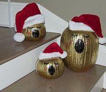 christmas pumpkins, christmas decorations, seasonal holiday decor