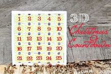 3d christmas countdown, crafts