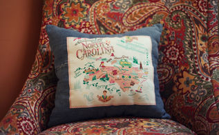 turning special t shirts and old jeans into cute pillows, crafts, repurposing upcycling