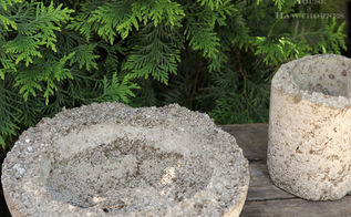 making lightweight hypertufa planters, container gardening, gardening, succulents, After drying