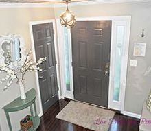 dark gray painted door, doors, foyer, home decor, painting