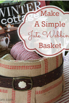 how to make a simple jute webbing basket, crafts, wreaths, Simple To Make Jute Webbing Basket
