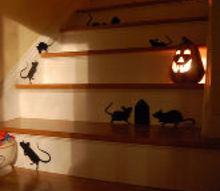 a rat infestation planning for some halloween giggles, halloween decorations, seasonal holiday d cor, Guaranteed smiles each time you head up the stairs
