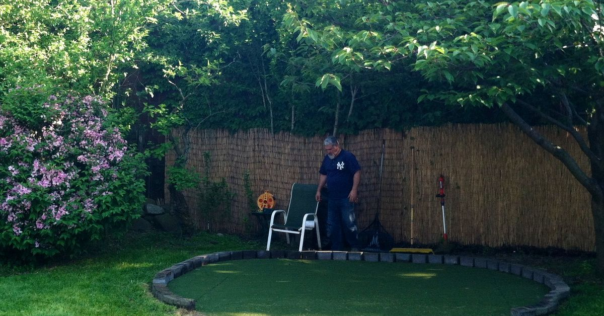 diy backyard golf green my dad 39 s gift to himself for