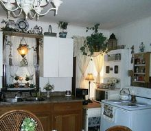 q what to do about old ugly metal cabinets, diy, how to, kitchen cabinets, kitchen design, painting