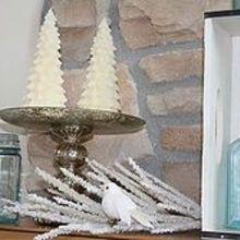 winter mantle, seasonal holiday decor