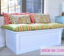 how to build a diy window seat tutorial, diy, how to, painted furniture, woodworking projects, How to build a window seat storage box in an afternoon tutorial