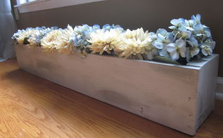 diy flower trough, crafts, flowers