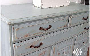 how to dress up furniture with hardware, painted furniture, A dressed up piece with mixed and matched hardware