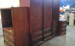 wardrobe makeover with homemade chalk paint and wax, chalk paint, closet, painted furniture