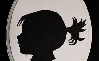 diy silhouette wall art, crafts