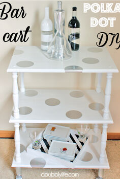 add polka dots to furniture easy diy, painted furniture