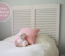shutter headboard tutorial, bedroom ideas, home decor, repurposing upcycling, Gorgeous Shutter headboard