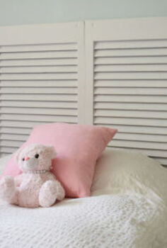 shutter headboard tutorial, bedroom ideas, home decor, repurposing upcycling, Gorgeous Shutter headboard