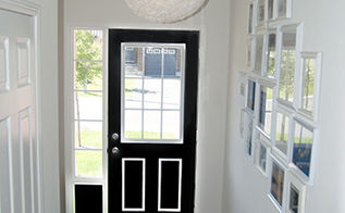 diy coffee filter light fixture, crafts, lighting, The light fixture hung up above the door