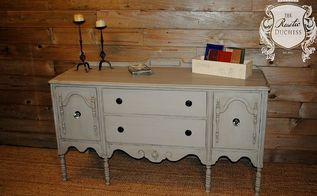 antique buffet in franciscan grey, painted furniture, repurposing upcycling, rustic furniture