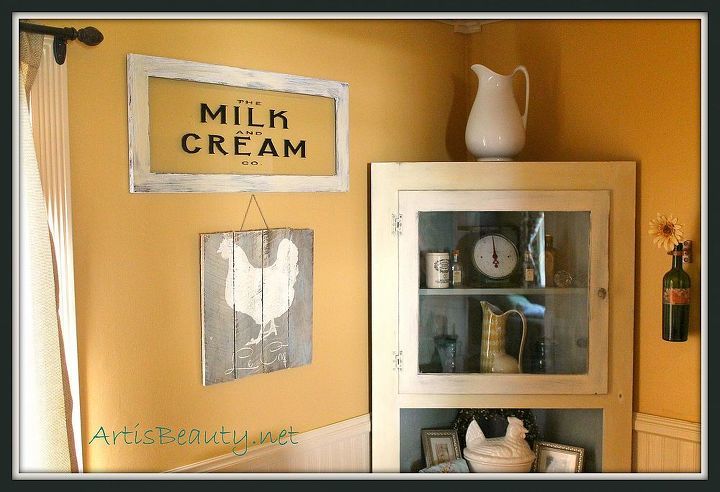Come Check Out My Vintage Milk And Cream Co Stenciled