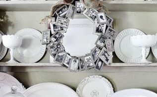 picture frame memorywreath, crafts, home decor, wreaths