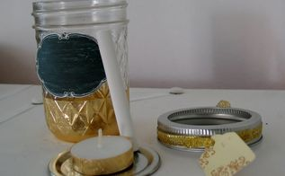 diy gift candle votive mini mason jar, chalkboard paint, crafts, mason jars, seasonal holiday decor