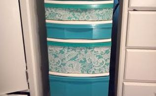 cheap plastic drawers fix, repurposing upcycling, storage ideas