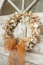 coat hanger fall rag wreath, crafts, seasonal holiday decor, wreaths, Finished Coat Hanger Fall Rag Wreath