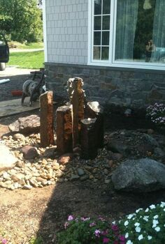 before after, outdoor living, ponds water features, after