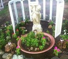 the beginning of my garden cupola, gardening, outdoor living, Finished with different statue