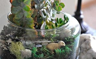 easter and spring succulent terrarium from frysauceandgrits com, easter decorations, seasonal holiday d cor