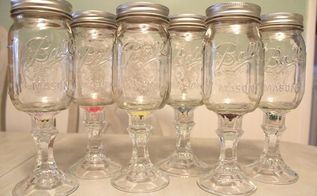 redneck wine glasses an inexpensive gift idea, crafts, repurposing upcycling, Profile view