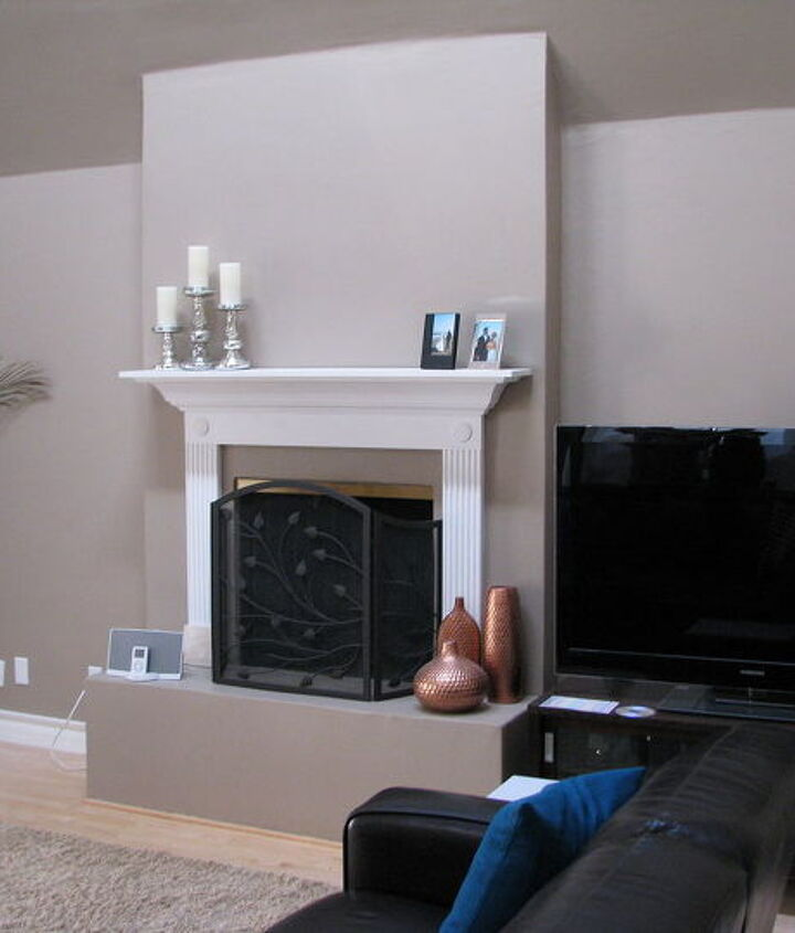 Our before fireplace needed something,. what would you have done?