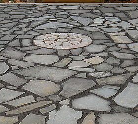 Flagstone Patio, Concrete Masonry, Outdoor Living, Patio, Ponds Water  Features, Before