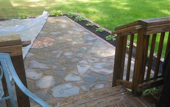 flagstone patio, concrete masonry, outdoor living, patio, ponds water features, My new patio