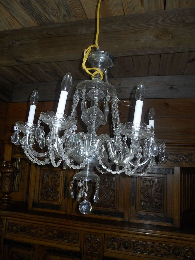 does anyone know how to clean a crystal chandelier, cleaning tips