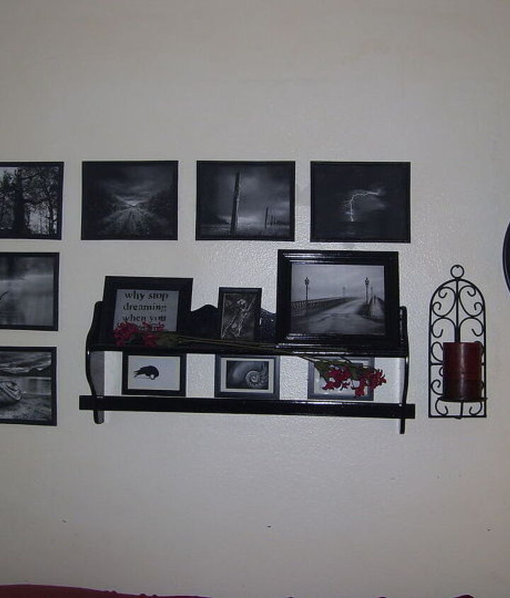 This grouping has replaced one of my paintings in the living room so far..