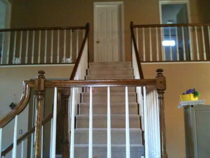 remodel before and after, fireplaces mantels, home decor, living room ideas, stairs, Before Stairs