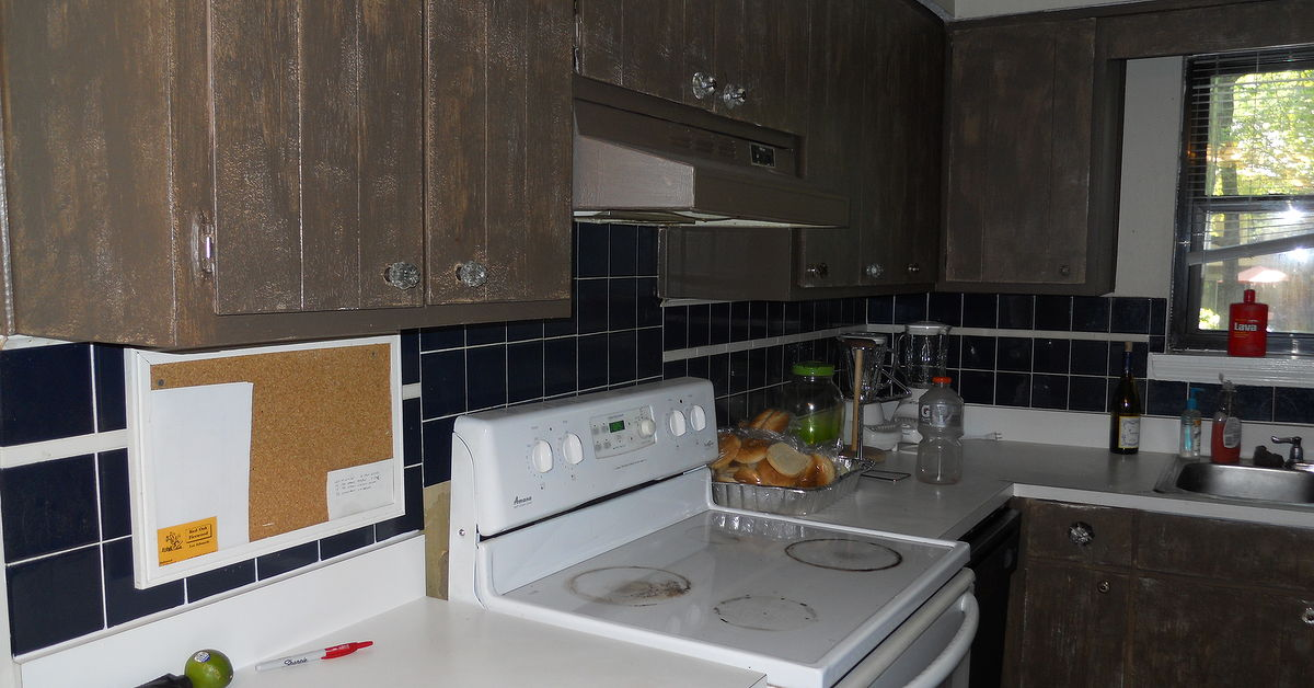 kitchen remodel is finished! my son lance had help from